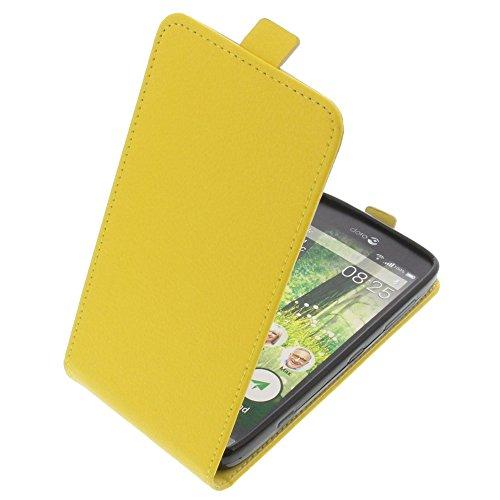 foto-kontor Tasche für Doro Liberto 825 Smartphone Flipstyle Schutz Hülle gelb