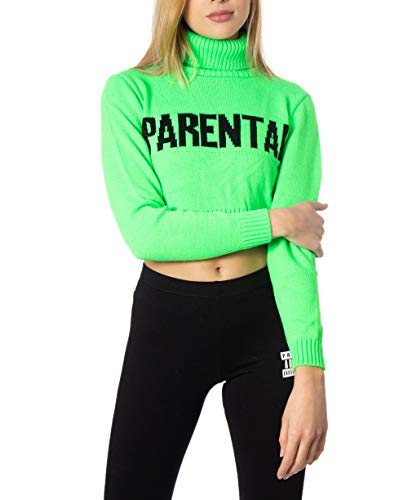Parental Advisory Pullover Damen Small Grün