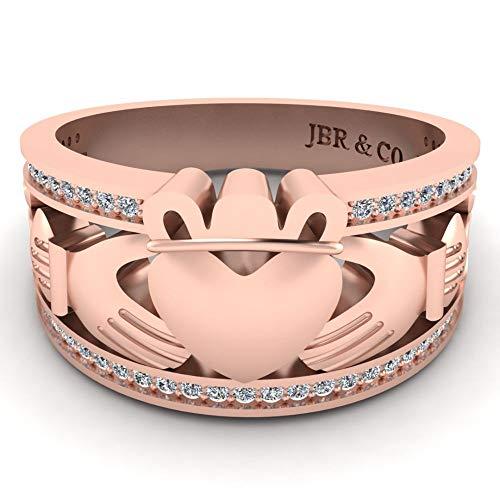 Jbr Claddagh Style - Anillo de plata de ley para mujer