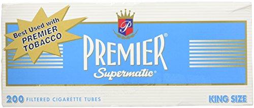 Premier King Size Light Cigarette Tubes - 5 Boxes