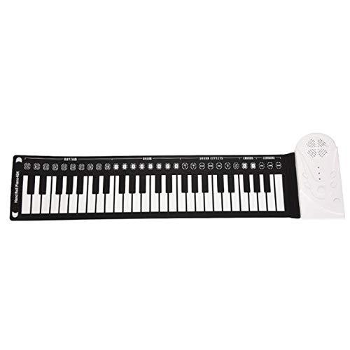 StMiYi E-Piano-Tastatur 49 Taste,Tragbares Aufrollbares Klavier,Hand Roll Piano,Elektronische Tastatur Aufrollen,Faltbare Klaviertastatur Anfänger,Unterstützung für Aufnahme und Wiedergabe