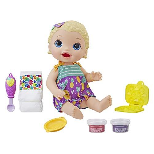 Boneca Baby Alive Lanchinhos Divertidos Loira - Com acessórios e comidinha - E5841 - Hasbro