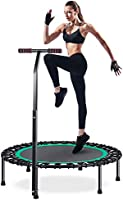 "Trampoline HOMEOW 40"" Mini Trampoline with Adjustable Handle Fitness Rebounder for Kids Jumping Exercise 200kg Weight..."