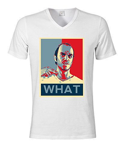 Trevor Obama - Camiseta de manga corta para hombre (cuello en pico)