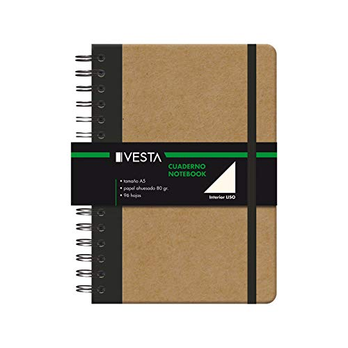 Cuaderno Vesta Nature Wire'o - Tamaño A5 - Liso