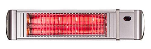 Infrarotstrahler HeizMeister LuXus Professionell silber, steuerbar über Smartphone oder Fernbedienung