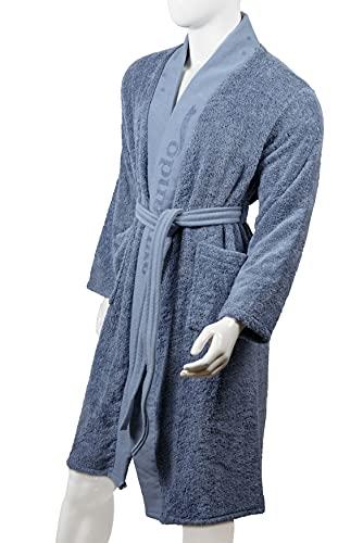 Aymando Scheich Collection - Albornoz unisex de lujo, calidad prémium, 100% algodón egipcio GIZA 86, 520 g/m², color azul claro, azul claro, M