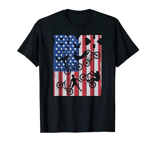 BMX Vélo USA-flag BMX-Bike Bicyclette Freestyle race BMX T-Shirt