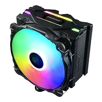 Enermax ETS-F40 Addressable RGB CPU Air Cooler AMD AM4/Intel LGA 1200/1151 4 Direct Contact Heat Pipes 140mm PWM Fan 200W+ TDP 5V 3-PIN ARGB Black