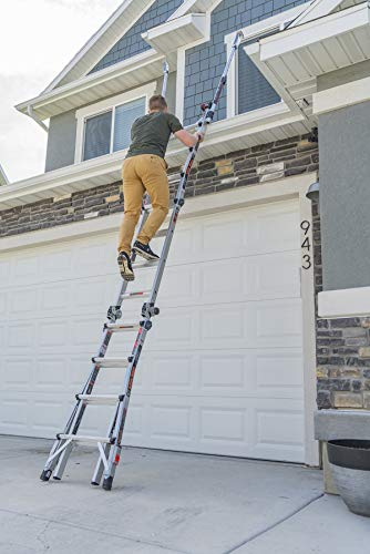 Little Giant Ladders, Epic, M17, 17 foot, Multi-Position Ladder, Aluminum, Type 1A, 300 lbs weight rating, (16817-818)