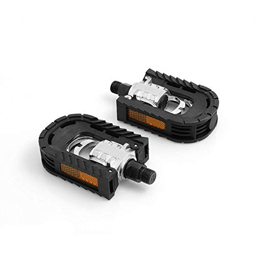 System-S Klapppedale Universal Fahrrad Pedal, Schwarz, 14,3 mm
