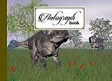 "Autograph Book: Zuniceratops Dinosaurs Cover | Signatures Blank Scrapbook, Blank Unlined Keepsake, Keepsake Memory Book, Size 8.25"" x 6"" By Axel Blank"