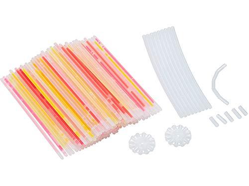 PEARL Leuchtstäbe: 100 Knicklichter in 6 Neon-Leuchtfarben, mit Steckverbindern, 20 cm (Leuchtsticks)