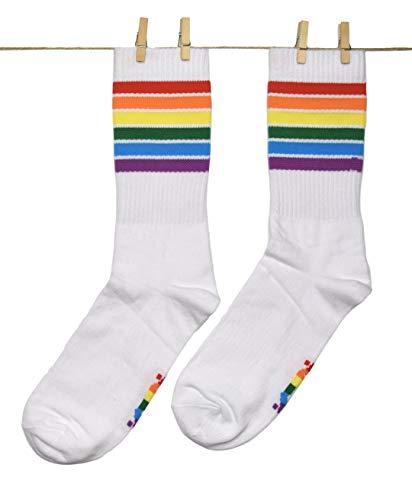Roits Damen Schwule Stolz Weiß Socken 36-40 - Bunte Flagge Sportsocken