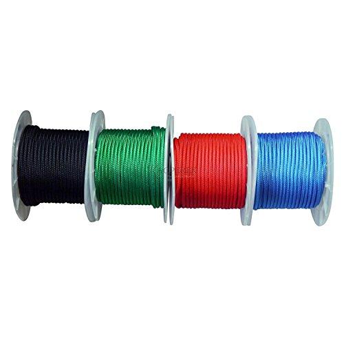 Kacperek Polypropylenseil 10m/8mm 800kg Polypropylen Seil Reepschnur Leine Tau Schnur Festmacher Rope (schwarz)