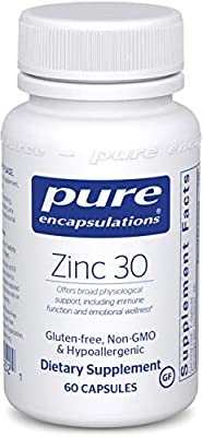 Pure Encapsulations - Zinc 30 - Zinc Picolinate (30 mg.) Highly Absorbable Hypoallergenic Supplement for Immune Support*
