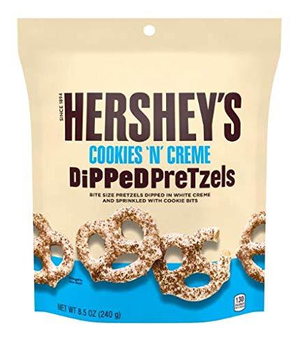 Hershey's Cookies 'N' Creme Dipped Pretzels, Cookies und Creme überzogene Brezeln Tüte, 1 Stück (240g)