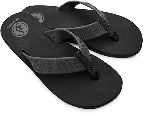 Volcom Men's Daycation Flip Flop Sandal, Black Destructor, 10 M US