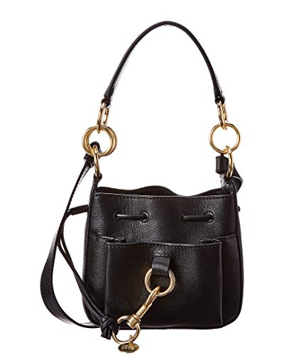 You will be light, functional, and chic carrying this See by Chloe™ bag. Handbag made of leather. Top drawstring closure. Flat top hand. Removable and adjustable crossbody strap.  Front external pocket with magnetic snap closure.  Brand name engraved...