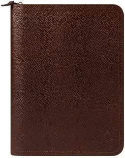 Classic FC Signature Unstructured Leather Zipper Binder - Brown