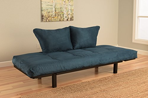 Best Futon Lounger - Mattress ONLY - Sit Lounge Sleep - Small Furniture for College Dorm, Bedroom Studio Apartment Guest Room Covered Patio Porch (POSH Blue)