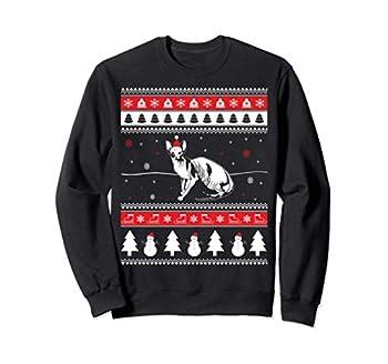 Noël Chat Sphynx Animal De Compagnie Sweatshirt