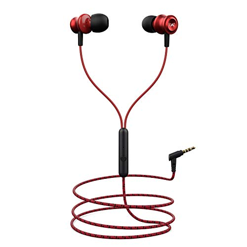 boAt Bassheads 152 in Ear Wired Earphones with Mic(Raging Red)