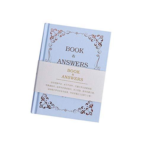 Tangzhan Cuaderno diario con libro y respuestas, cubierta 208 hojas, cuaderno a rayas de color de hadas para casa, escuela, oficina