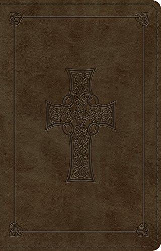 ESV Large Print Thinline Reference Bible (TruTone, Olive, Celtic Cross Design)