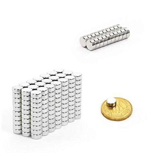 Oblique Unique 10 Mini Magnete, ultrastark - 7x3mm - NEODYM - Das Original