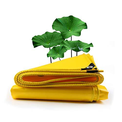 Lluvia Multifuncional Resistente Lona de PVC, Impermeable UV y Resistente Cubierta de toldos de Tela Cubierta Lona for Acampar al Aire Libre (Color: Amarillo)