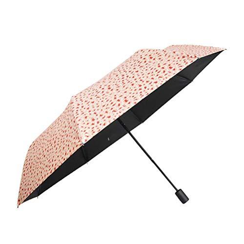 Kleine frisse parasol, 8-bot creatief klein bloemmotiefpatroon Compact en windbestendig, makkelijk mee te nemen en geschikt voor vrouwen