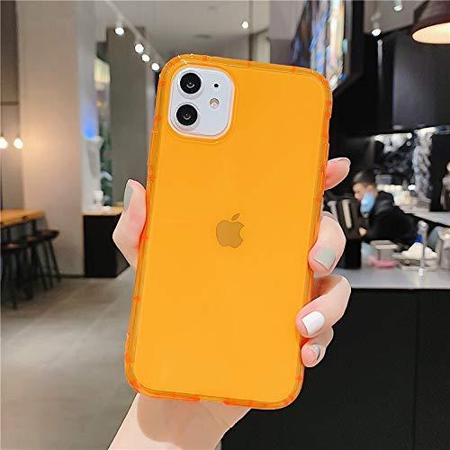 HUAI Carcasa de silicona suave para iPhone 11 Pro X XR XS Max 7 8 7Plus (color : O, material: para iPhone 8)