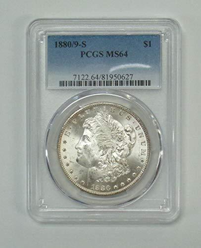 1880 S 8/9 Morgan VAM 11 Dollar MS64 PCGS
