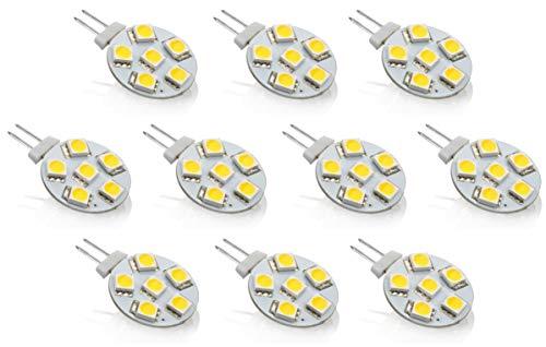 10er PACK - LED G4 12V Stiftsockel Platine rund - 1,5W 55lm - Ø23mm - kaltweiß (6000-6500 K)