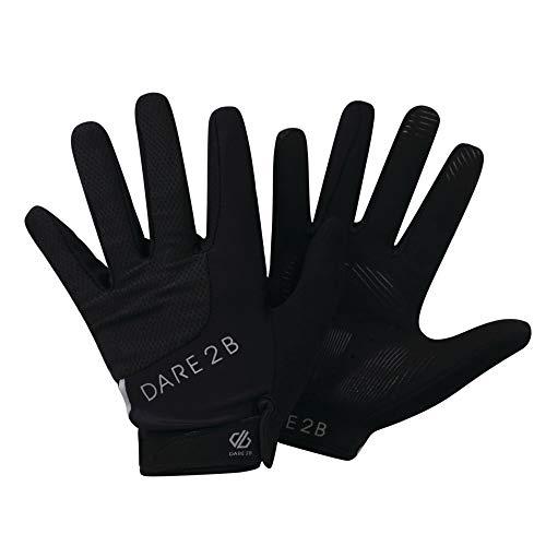Dare 2b Damen Forcible Lightweight Hardwearing Ergonomic Cycling Handschuh, Schwarz, XS