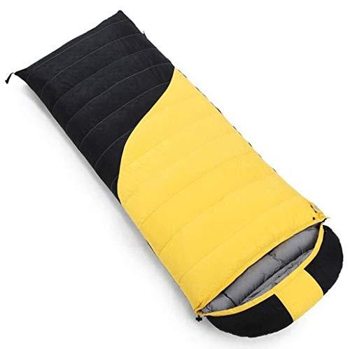 Sac de couchage Camp épissé Double extérieur Sac Portable Sommeil comprimé (capacité: 2,1 kg, Couleur: Jaune)
