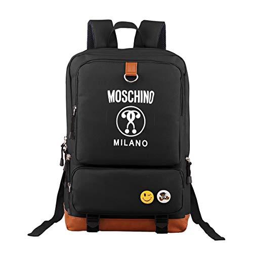 Moschino Unisex Laptop Backpack Travel Backpack Bookbag School Backpack Stylish Vintage Backpack Computer Backpacks Work Backpack
