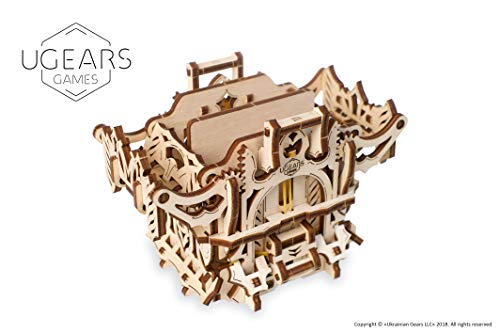 UGEARS Dek Doos 3D-model Kit Bordspellen - Speelkaart Doos - Houten Kist Speelkaarten Doos Houten Kit Dobbelstenen Spellen Kaartspellen voor Volwassenen Modelbouw Set Spelaccessoires Houten Bordspel Accessoires