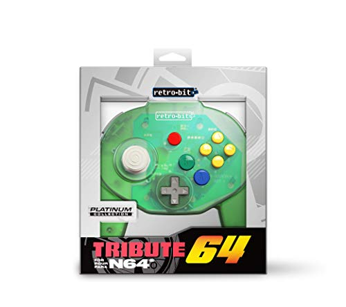 Retro-Bit Tribute 64 for Nintendo 64 - Forest Green [Importación inglesa]