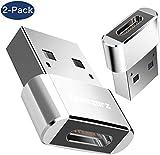 Adaptateur USB C vers USB mâle, Acessorz [Paquet de 2] Convertisseur de connecteur Adaptateur OTG de Charge Rapide et de...