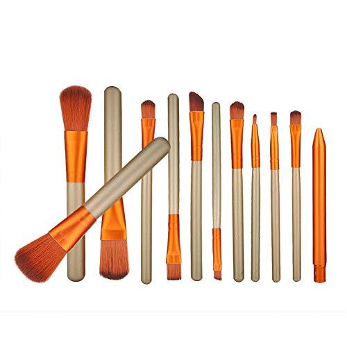 12pcs kit de brosse de maquillage multifonctionnel base douce pour les yeux fard à paupières cosmétique