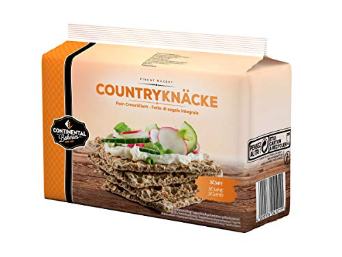 Continental Bakeries Countryknäcke Knäckebrot Sesam, 250 g