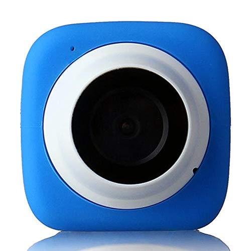 Lisansang Cámara de acción Coche DVR Grabadora De Conducción Impermeable 4G Memoria Incorporada WiFi Cámara Deportiva Selfie para Bicicleta, Buceo, natación (Color : Blue, Size : One Size)