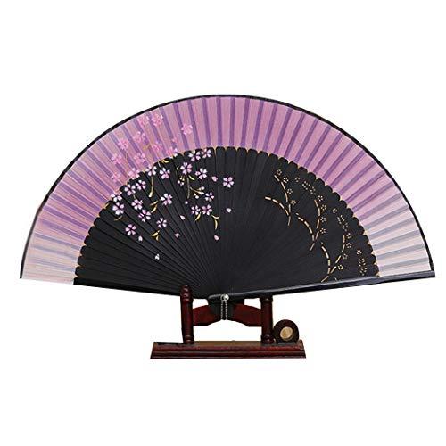 mymotto Le Donne estive in Stile Giapponese Stampa Il ventaglio Pieghevole in bambù Soprammobili