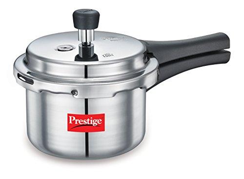 Prestige Popular Aluminium Pressure Cooker, 1.5 litres, Silver