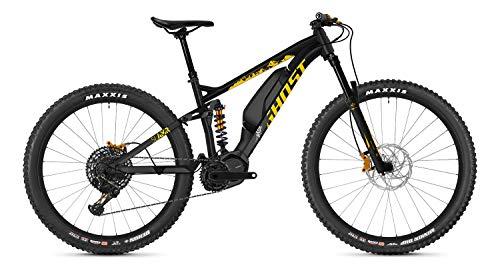 Ghost Hybride Slamr S3.7+ AL U Shimano Steps Elektro Bike 2020 (L/46cm, Night Black/Spectra Yellow/Iridium Silver)