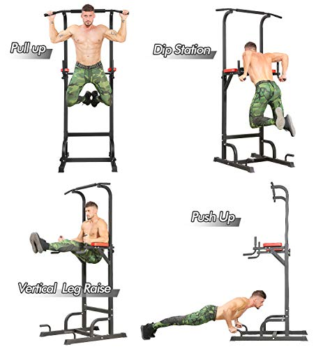 Product Image 3: BangTong&Li Power Tower Workout Pull Up & Dip Station Adjustable Multi-Function Home Gym Fitness Equipment