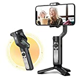 hohem Gimbal Stabilizer for Smartphones - Foldable Phone Gimbal, Various Professional Shooting Functions for Vlog Youtuber, Face Tracking 3.0, Gimble for iPhone and Android -Black