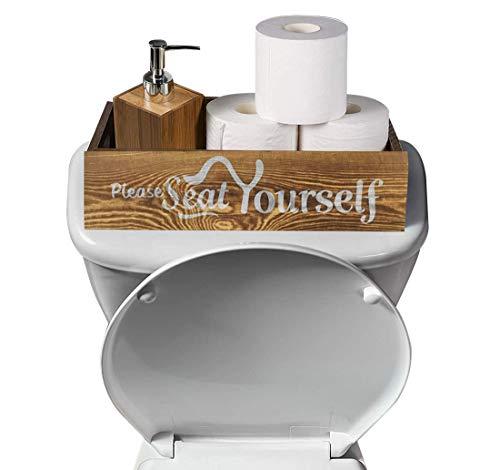 Please Seat Yourself Bathroom Decor BoxFarmhouse Wooden Bathroom Toilet BoxToilet Paper Holder StorageRustic Home Decor